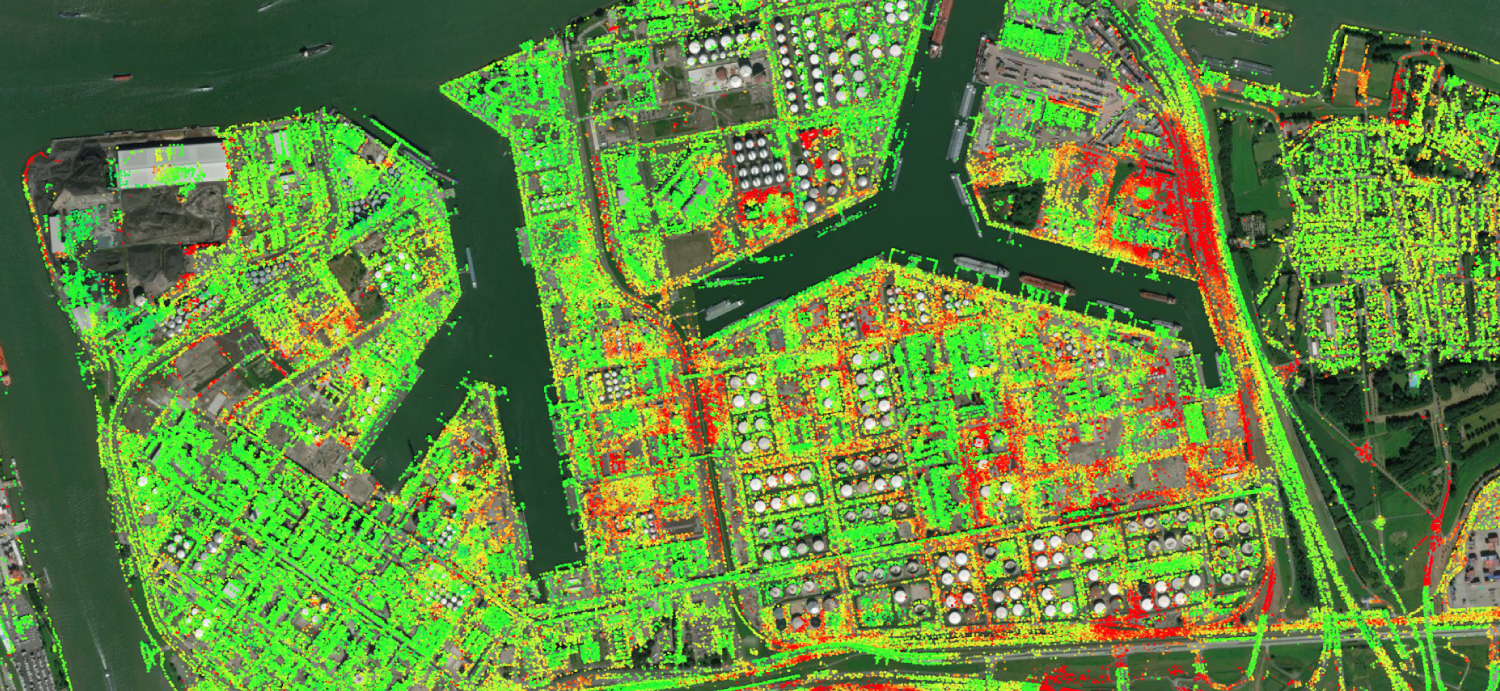 An InSAR deformation map of the port of Rotterdam