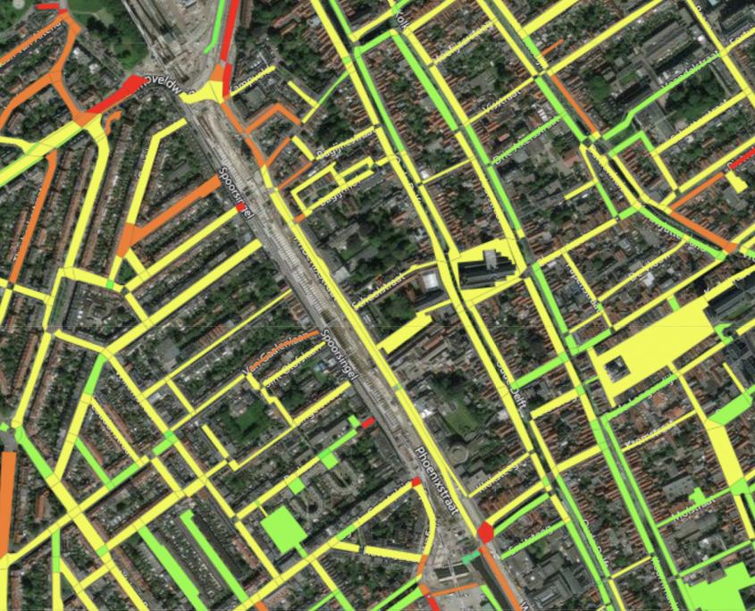 Zettingsgevoeligheid per straat